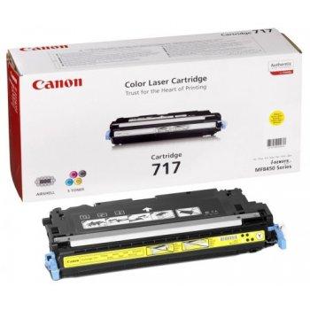Заправка картриджа Canon 717 желтый