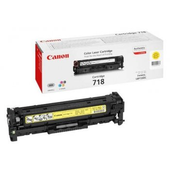 Заправка картриджа Canon 718 желтый