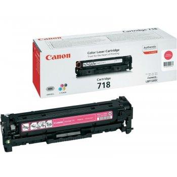Заправка картриджа Canon 718 красный