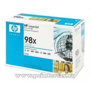 Заправка картриджа HP 92298X