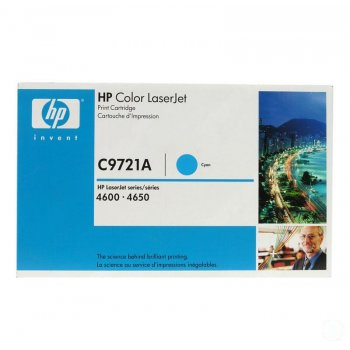Заправка картриджа HP C9721A голубой