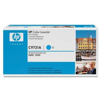 Заправка картриджа HP C9731A голубой