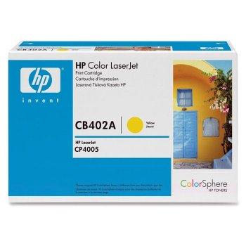 Заправка картриджа HP CB402A желтый