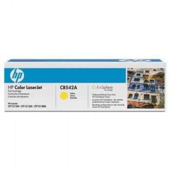 Заправка картриджа HP CB542A желтый