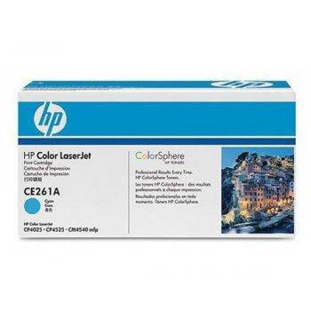Заправка картриджа HP CE261Aголубой