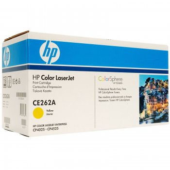 Заправка картриджа HP CE262A желтый