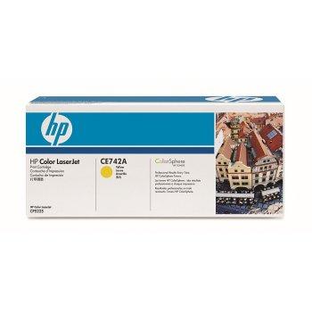 Заправка картриджа HP CE742A желтый