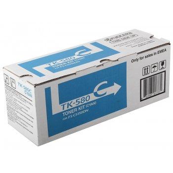 Заправка картриджа Kyocera TK-580C синий