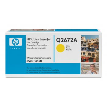 Картридж оригинальный HP Q2672A желтый
