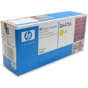 Картридж оригинальный HP Q6472A желтый
