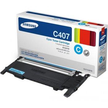 Картридж совместимый Samsung CLT-C407S  голубой